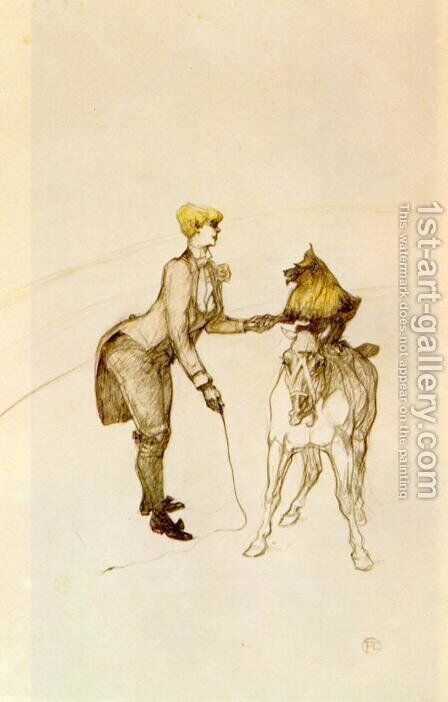 At the Circus: The Animal Trainer by Toulouse-Lautrec - Reproduction Oil Painting