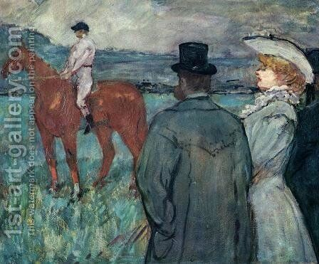 At the Races by Toulouse-Lautrec - Reproduction Oil Painting