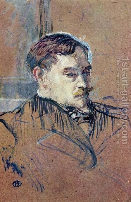Romain Coolus by Toulouse-Lautrec - Reproduction Oil Painting