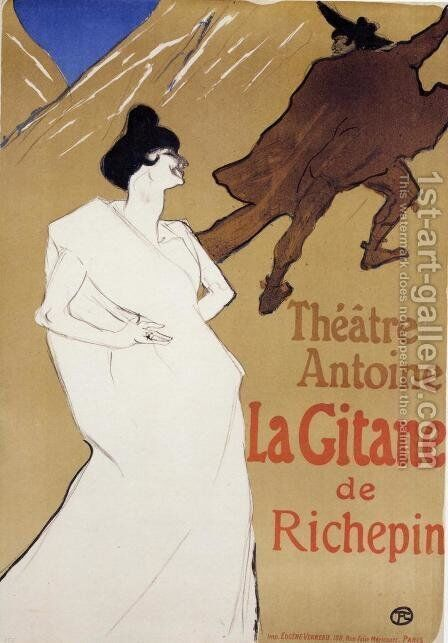 La Gitane 'The Gypsy' by Toulouse-Lautrec - Reproduction Oil Painting