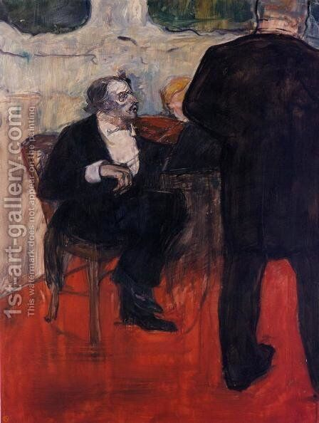 The Violinist Dancia by Toulouse-Lautrec - Reproduction Oil Painting