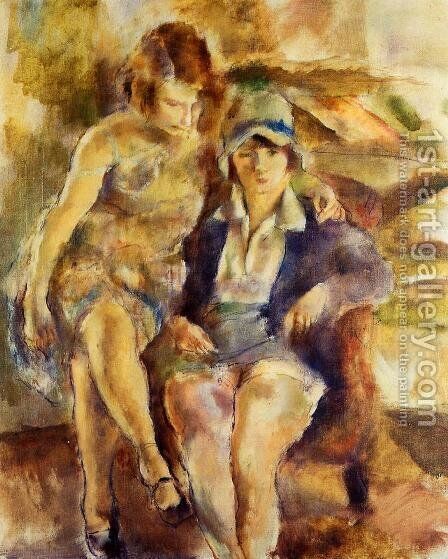 Zimette and Mirelle by Jules Pascin - Reproduction Oil Painting