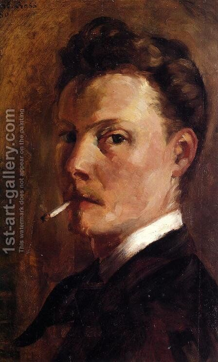 Self Portrait with Cigarette by Henri Edmond Cross - Reproduction Oil Painting