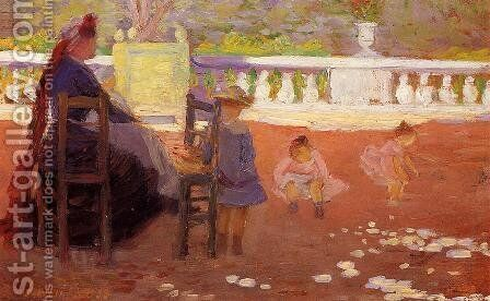 At Luxembourg by Henri Edmond Cross - Reproduction Oil Painting
