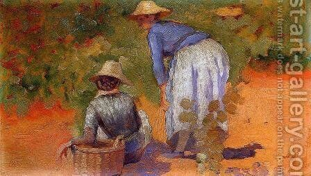 Study for 'The Grape Pickers' by Henri Edmond Cross - Reproduction Oil Painting