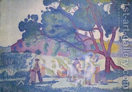 The Farm, Morning by Henri Edmond Cross - Reproduction Oil Painting