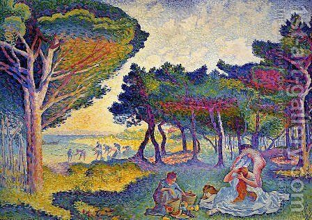 By the Mediterranean by Henri Edmond Cross - Reproduction Oil Painting