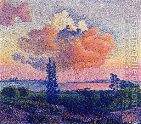 The Pink Cloud by Henri Edmond Cross - Reproduction Oil Painting