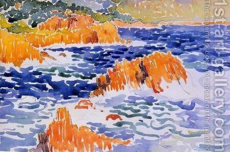 Rocks at Trayas by Henri Edmond Cross - Reproduction Oil Painting