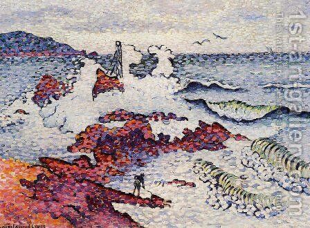 The Mediterranean, East Wind by Henri Edmond Cross - Reproduction Oil Painting