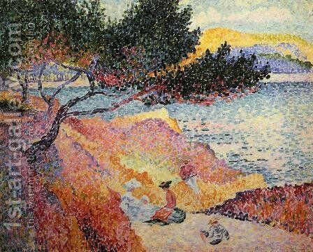 The Bay at Cavaliere by Henri Edmond Cross - Reproduction Oil Painting