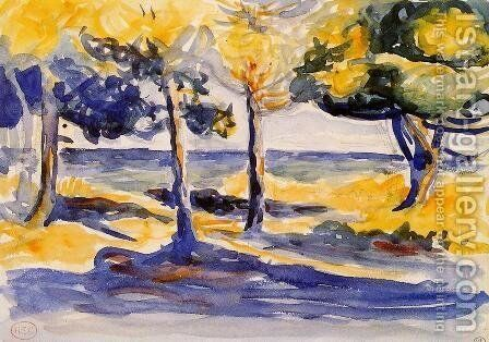 Trees by the Sea by Henri Edmond Cross - Reproduction Oil Painting