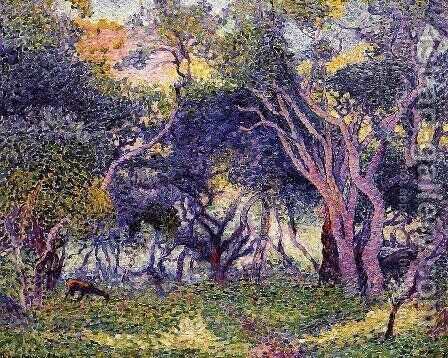 In the Woods by Henri Edmond Cross - Reproduction Oil Painting