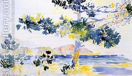 Saint-Clair Landscape by Henri Edmond Cross - Reproduction Oil Painting