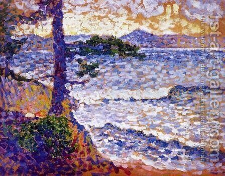 The Mediterranean Coast by Henri Edmond Cross - Reproduction Oil Painting