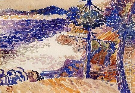 Pines by the Sea I by Henri Edmond Cross - Reproduction Oil Painting