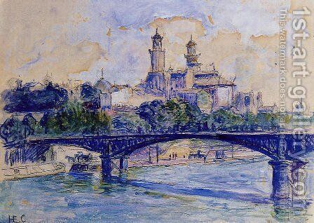 The Seine by the Trocadero by Henri Edmond Cross - Reproduction Oil Painting
