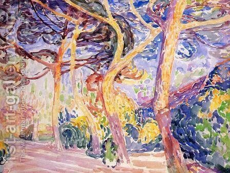 Under the Pines by Henri Edmond Cross - Reproduction Oil Painting