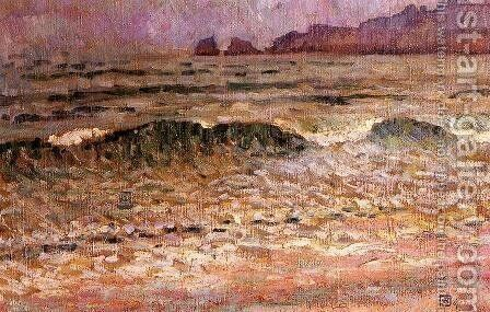 Rain - Jersey by Theo van Rysselberghe - Reproduction Oil Painting