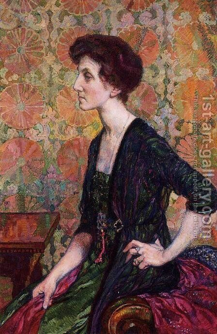 Portrait of Else Lampe-Von Quita by Theo van Rysselberghe - Reproduction Oil Painting