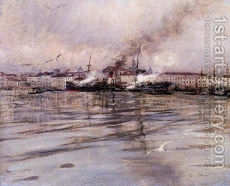 View of Venice by Giovanni Boldini - Reproduction Oil Painting