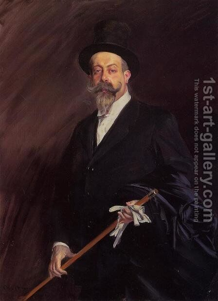 Portrait of 'Willy', The Writer Henri Gauthier-Villars by Giovanni Boldini - Reproduction Oil Painting