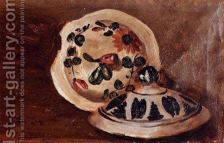 Soup Bowl Covers by Jean Frédéric Bazille - Reproduction Oil Painting