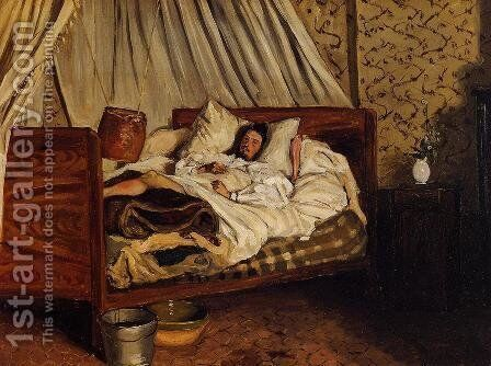 The Improvised Field Hospital by Jean Frédéric Bazille - Reproduction Oil Painting