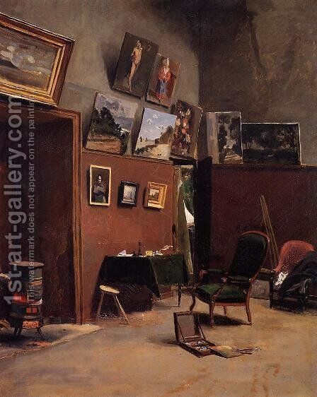 The Studio on the Rue de Furstenberg by Jean Frédéric Bazille - Reproduction Oil Painting