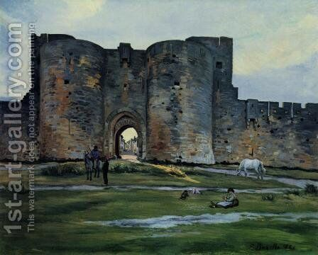 Queens Gate at Aigues-Mortes by Jean Frédéric Bazille - Reproduction Oil Painting