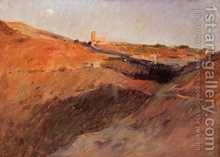 Tuscan Hills by Frank Duveneck - Reproduction Oil Painting