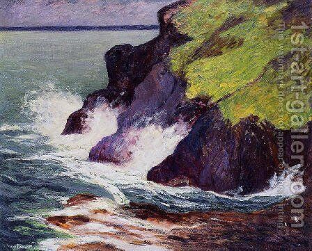 The Three Cliffs by Maxime Maufra - Reproduction Oil Painting