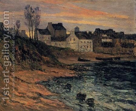 Twilight, Winter, Douarnenez by Maxime Maufra - Reproduction Oil Painting