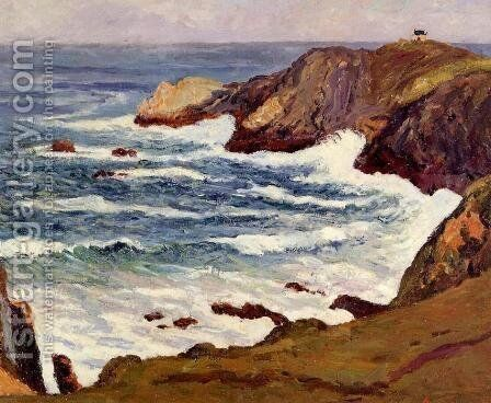 The Cove at Cape Suzon by Maxime Maufra - Reproduction Oil Painting