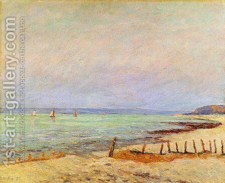 Dusk, the Mouth of the Seine by Maxime Maufra - Reproduction Oil Painting