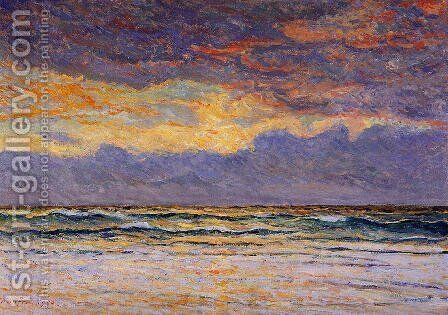 Sunset: Margat by Maxime Maufra - Reproduction Oil Painting