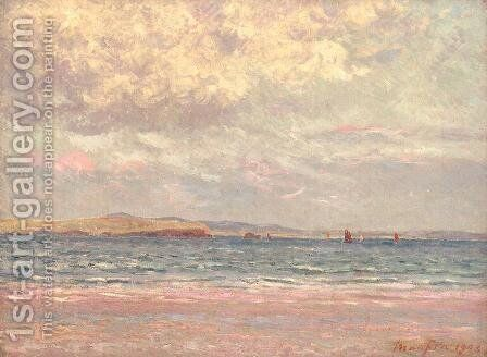 Evening, Morgat Beach by Maxime Maufra - Reproduction Oil Painting