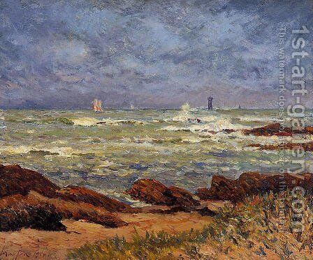 The Barges Lighthouse by Maxime Maufra - Reproduction Oil Painting