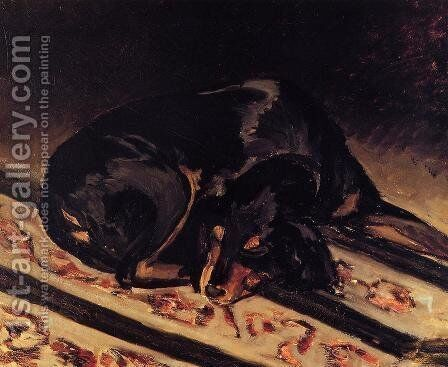 The Dog Rita Asleep by Jean Frédéric Bazille - Reproduction Oil Painting