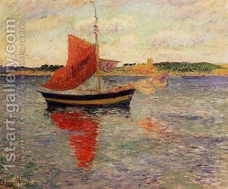 Seascape by Henri Moret - Reproduction Oil Painting
