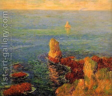Calm Sea at L'Ile de Groux by Henri Moret - Reproduction Oil Painting
