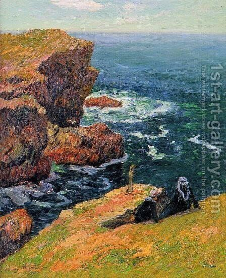 The Coast of Moelan by Henri Moret - Reproduction Oil Painting