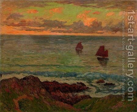 Evening at Doelan by Henri Moret - Reproduction Oil Painting