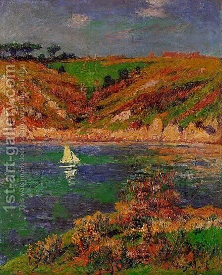 Sailboats in Brittany by Henri Moret - Reproduction Oil Painting