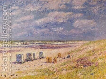 The Egmond Beach, Holland by Henri Moret - Reproduction Oil Painting