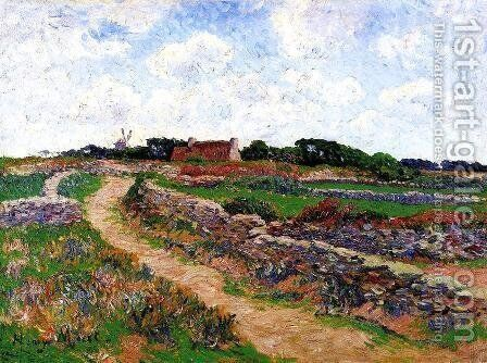 A Path in Cholars, Finistere by Henri Moret - Reproduction Oil Painting