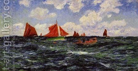 Fishing Boats off the Coast by Henri Moret - Reproduction Oil Painting