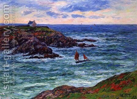 Seascape: Doelan, Brittany by Henri Moret - Reproduction Oil Painting