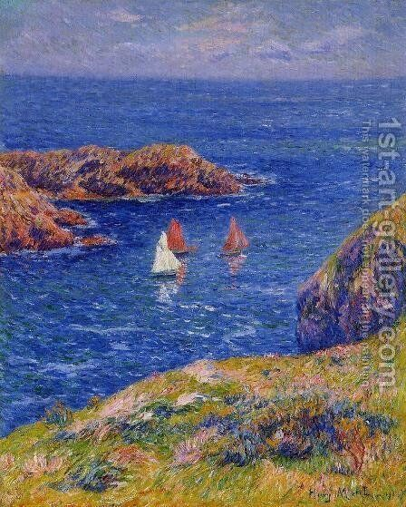 Quessant, Calm Day by Henri Moret - Reproduction Oil Painting
