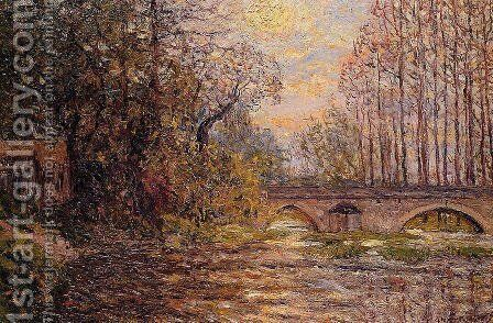 Sunset on the Loir, Lavardin by Maxime Maufra - Reproduction Oil Painting